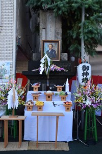坂本龍馬誕生祭日の記念碑